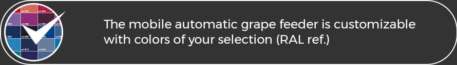 Le chargeur automatique mobile est personnalisable selon vos couleurs